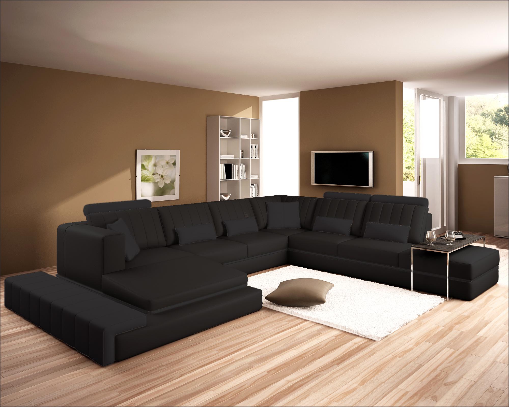 Bernstein xxl wohnlandschaft 5029 eck couch neu ledercouch for Eck wohnlandschaft