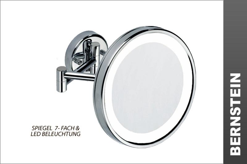 kosmetikspiegel schminkspiegel 7 fach 8010led 24cm ebay. Black Bedroom Furniture Sets. Home Design Ideas