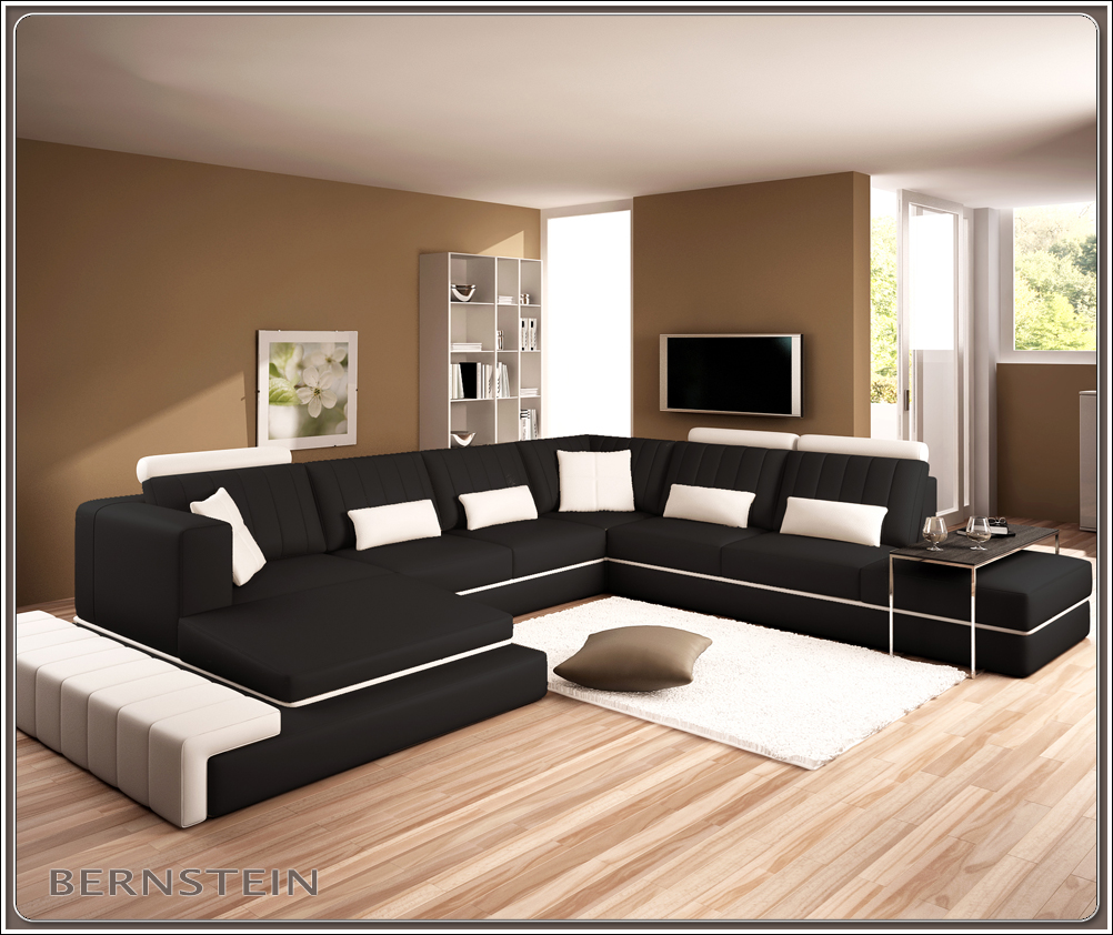 bernstein xxl wohnlandschaft 5029 eck couch neu ledercouch sofagarnitur ebay. Black Bedroom Furniture Sets. Home Design Ideas