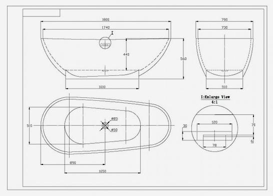 freistehende badewanne vigo acryl 180x80 inkl ab berlauf v 767 ebay. Black Bedroom Furniture Sets. Home Design Ideas