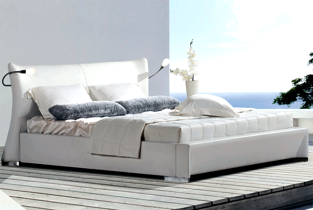 edles design bett wien 160x200 doppelbett wei licht ebay. Black Bedroom Furniture Sets. Home Design Ideas