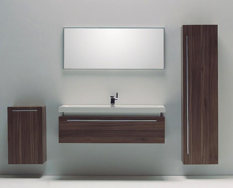 Mobile da bagno n1200 lavabo base sospesa porta lavabo specchio