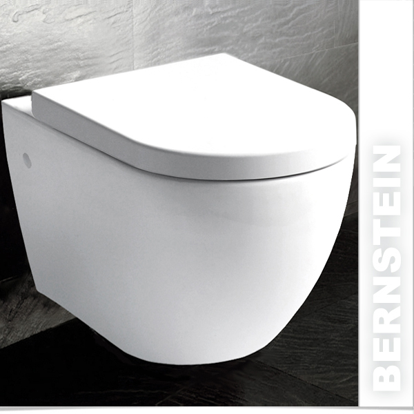 bernstein w803 design wand h nge wc toilette softclose ebay. Black Bedroom Furniture Sets. Home Design Ideas