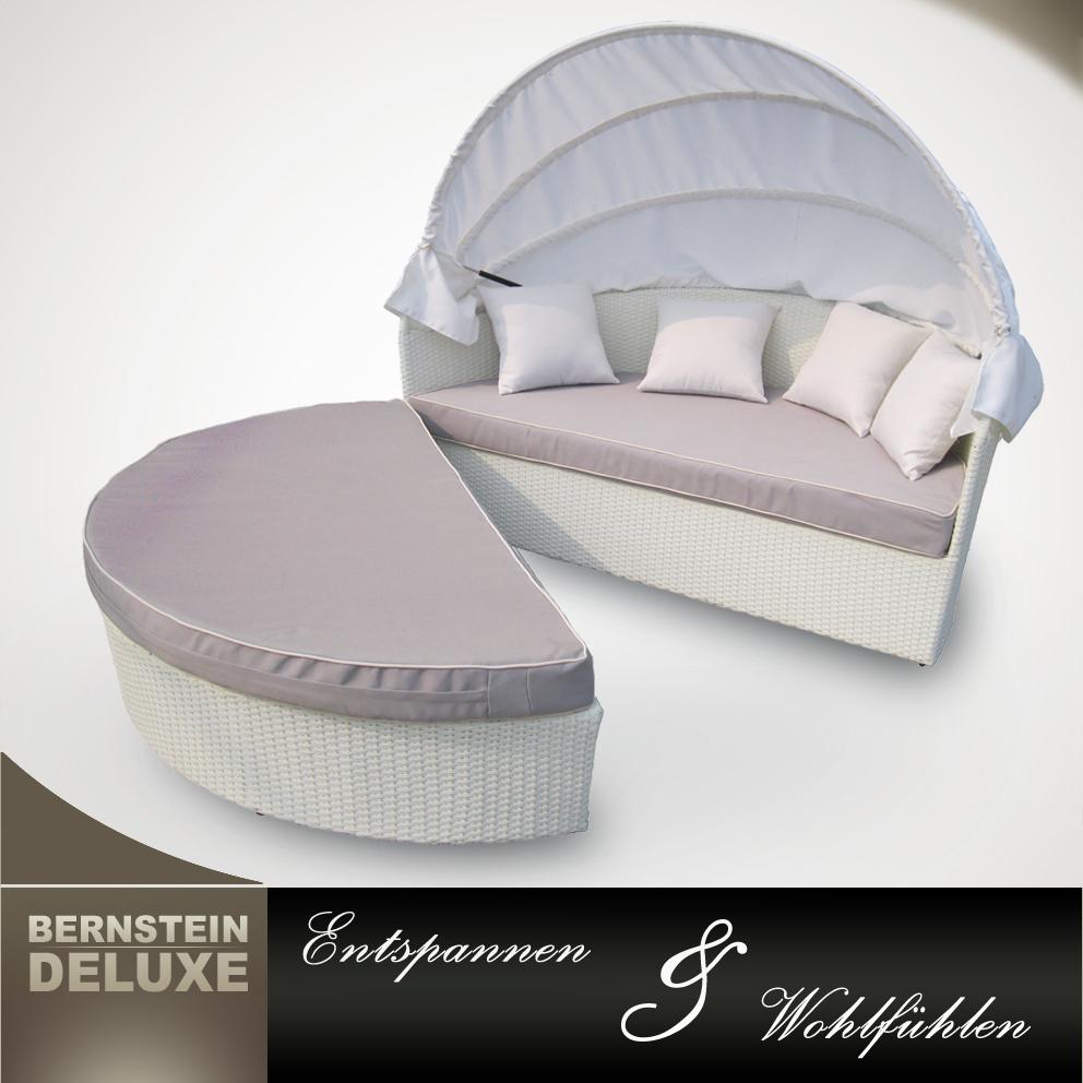edle rattan sonnenliege sonneninsel gartenm bel 9010 ebay. Black Bedroom Furniture Sets. Home Design Ideas