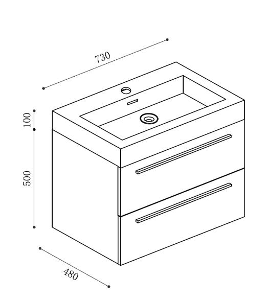 badm bel set t730 wei waschbecken unterschrank neu. Black Bedroom Furniture Sets. Home Design Ideas