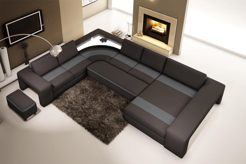 Bernstein xxl wohnlandschaft 5030 eck couch neu ledercouch for Eck wohnlandschaft