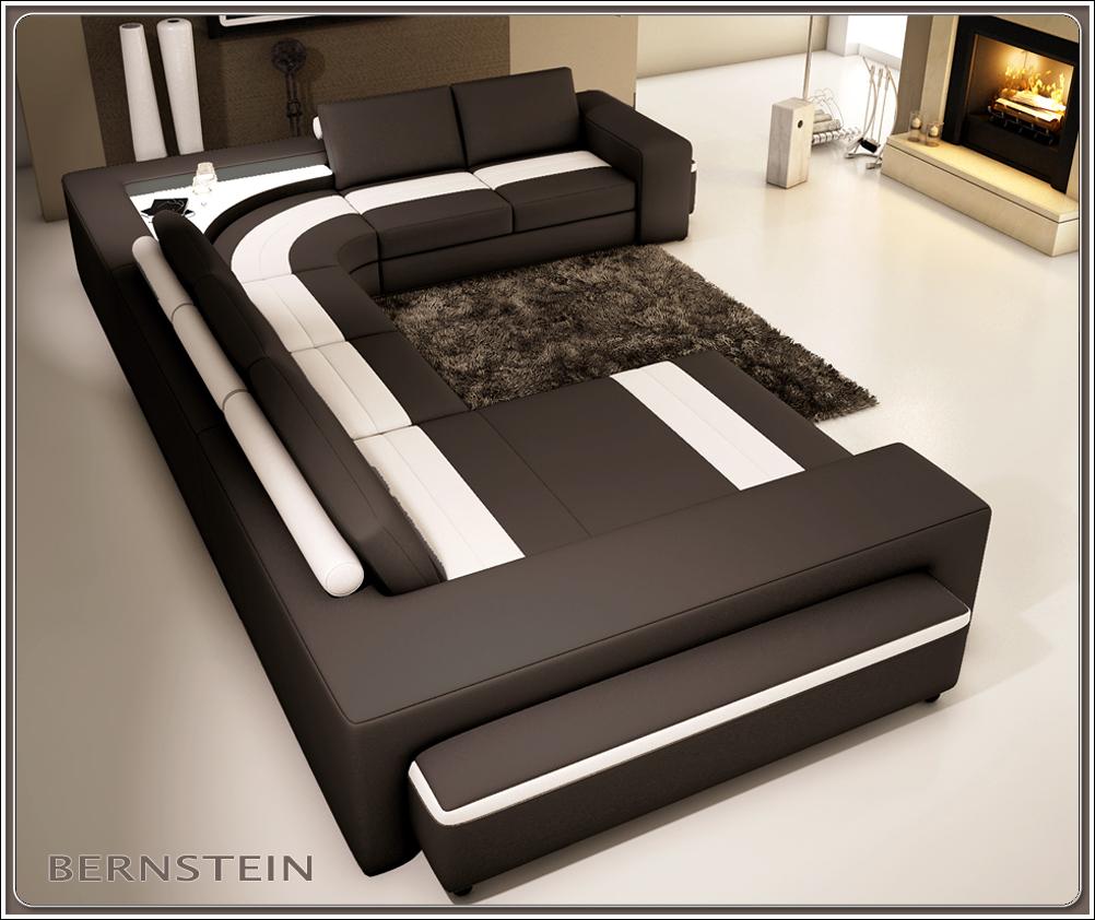 bernstein xxl wohnlandschaft 5030 eck couch neu ledercouch. Black Bedroom Furniture Sets. Home Design Ideas