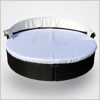 bernstein edle xxl rattan 230cm sonnenliege sonneninsel 019 gartenm bel ebay. Black Bedroom Furniture Sets. Home Design Ideas